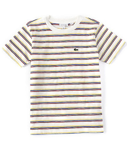 Lacoste Big Boys 8-16 Short-Sleeve Striped Classic Tee