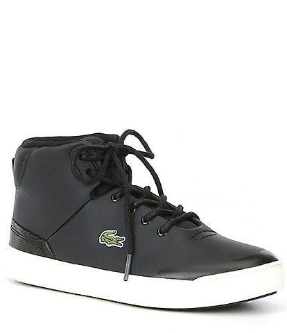 Lacoste Boys' Explorateur Classic Hi-Top Suede Lace-Up Sneaker Youth