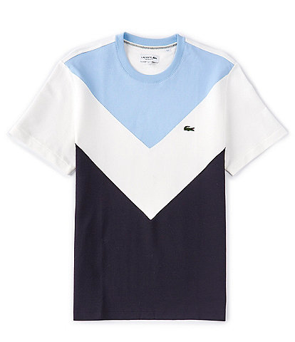 Lacoste Chevron Color Block Short-Sleeve Tee