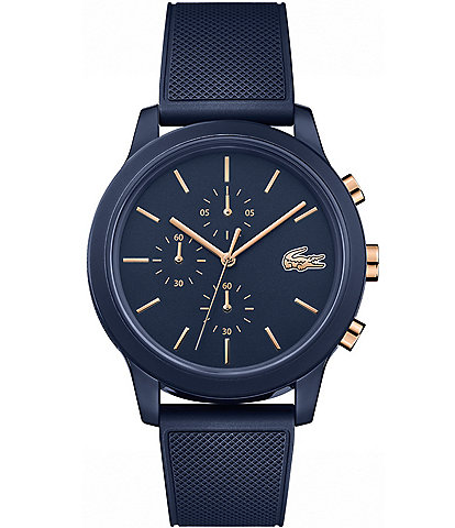 Lacoste Chronograph 12.12 Blue Rubber Strap Watch