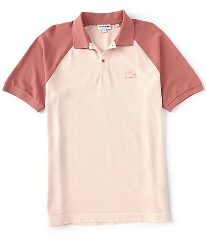 Lacoste Contrast Sleeve Stretch Short-Sleeve Polo Shirt