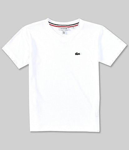 Lacoste Little Boys 2T-6T Short Sleeve V-Neck Tee