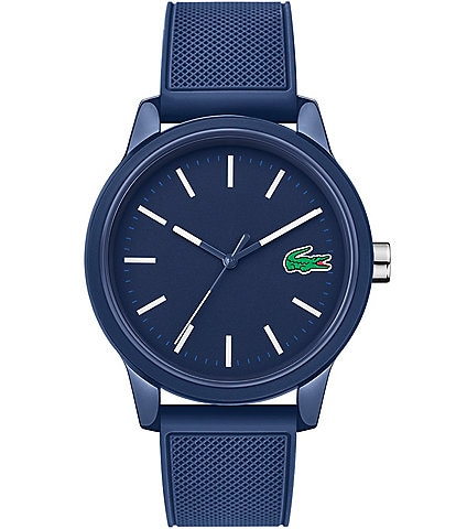 Lacoste Men's 12.12 Blue Silicone Strap Watch
