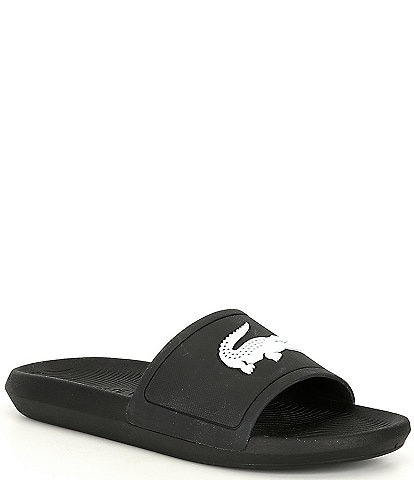 Lacoste Men's Croco Pool Slides