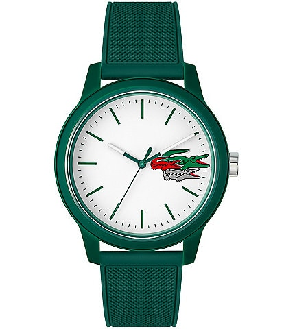 Lacoste Men's Green Silicone Strap Watch