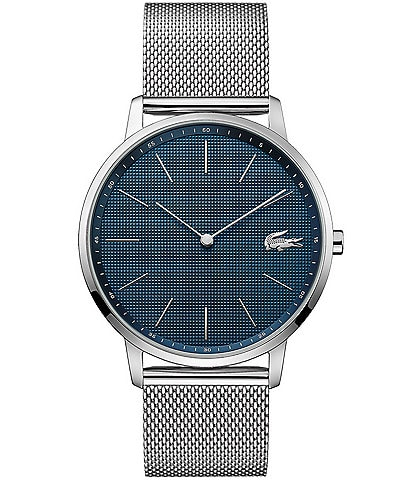 Lacoste Men's Moon Stainless Steel Mesh Bracelet Watch