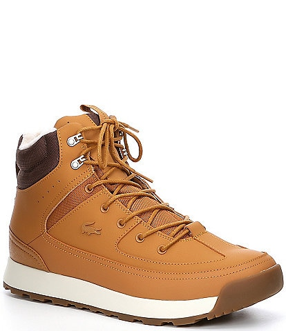 Lacoste Men's Urban Breaker Water Resistant Leather Lace-Up Boot