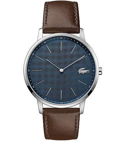 Lacoste Moon Ultra Slim Brown Leather Strap Watch
