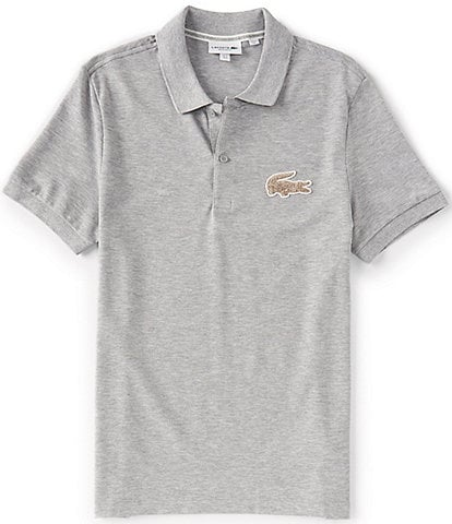 Lacoste Oversized Croc Patch Short-Sleeve Polo Shirt