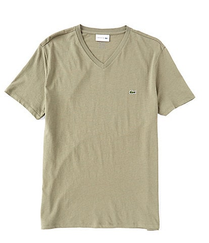 Lacoste Pima Cotton Short-Sleeve V-Neck Tee