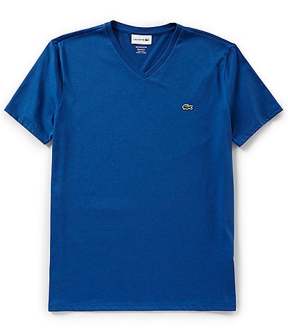 Lacoste Pima Cotton Short-Sleeve V-Neck Tee