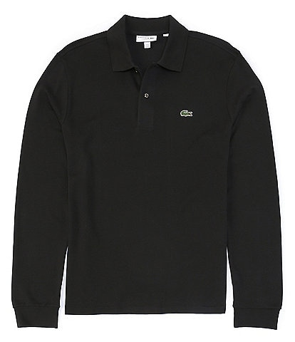 Lacoste Solid Pique Long-Sleeve Polo Shirt