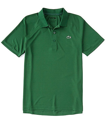 Lacoste Sport Solid Performance Stretch Short-Sleeve Polo Shirt