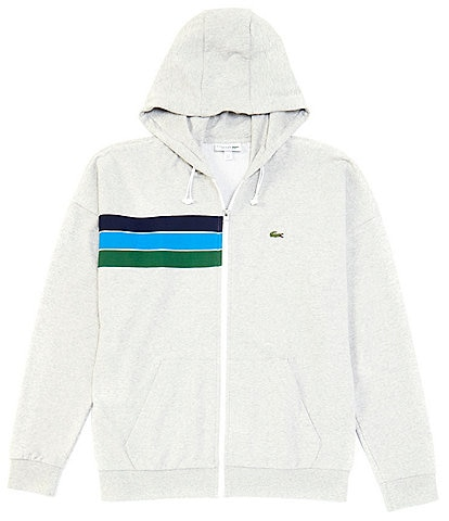 Lacoste Tri-Color Stripe Long-Sleeve Hoodie