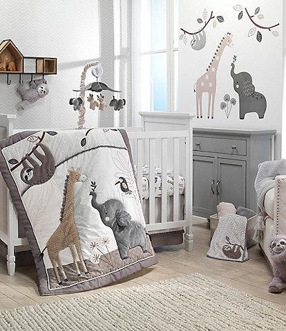 Lambs & Ivy Baby Jungle Animals 4-Piece Crib Bedding Set