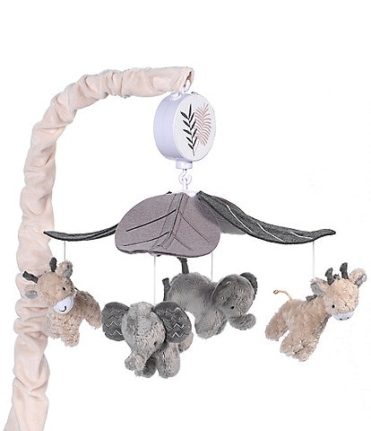 Lambs & Ivy Baby Jungle Animals Musical Crib Mobile