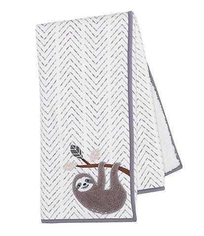 Lambs & Ivy Baby Jungle Sherpa Sloth Baby Blanket