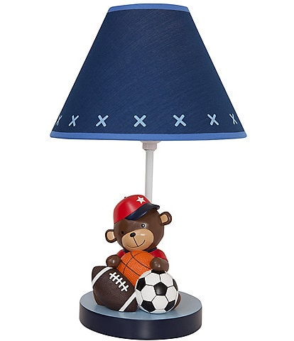 Lambs & Ivy Future All Star Blue Monkey Sports Lamp with Shade & Bulb