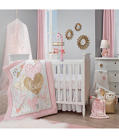Lambs & Ivy Layla Nursery Baby Crib 4 Piece Bedding Set