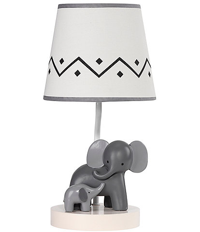 Lambs & Ivy Me & Mama Elephant Lamp with Shade & Bulb