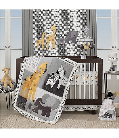 Lambs & Ivy Me & Mama Safari 3-Piece Nursery Crib Bedding Set
