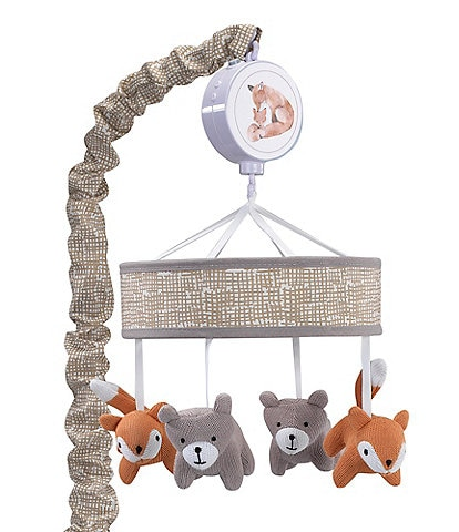 Lambs & Ivy Painted Forest Fox & Bear Baby Crib Musical Mobile