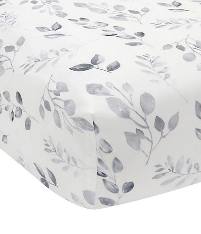 Lambs & Ivy Painted Forest Watercolor Leaf Print Fitted Crib Sheet