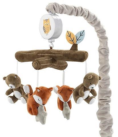 Lambs & Ivy Sierra Sky Bear and Fox Musical Baby Crib Mobile