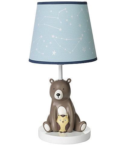 Lambs & Ivy Sierra Sky Bear Lamp with Shade & Bulb