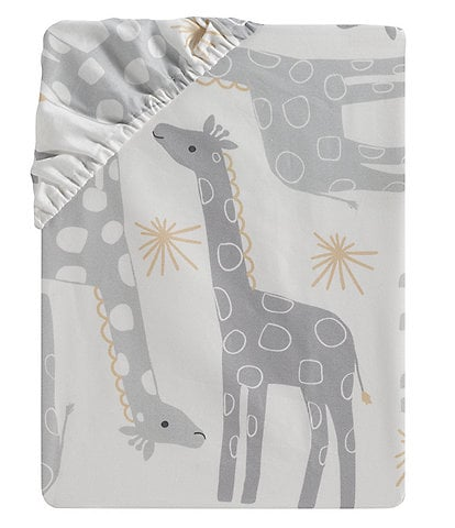 Lambs & Ivy Signature Moonbeams Cotton Fitted Crib Sheet