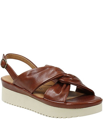 L'amour Des Pieds Amiens Leather Twist Knot Sandals