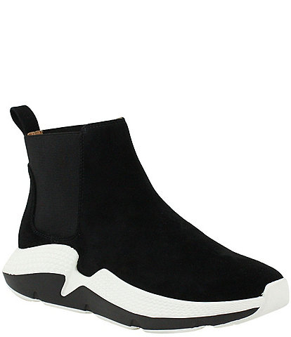 L'Amour Des Pieds Haddy Suede Chelsea Chunky Sneaker Booties
