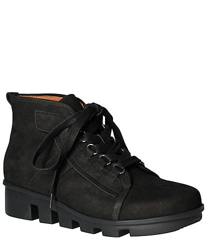 L'Amour Des Pieds Hallshire Leather Wedge Booties