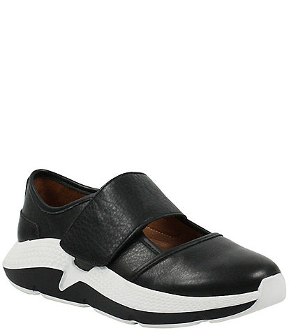 L'Amour Des Pieds Haslan Leather Sporty Wedge Sneakers