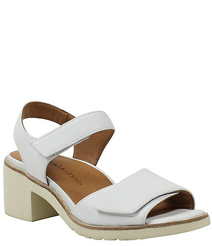 L'amour Des Pieds Qerene Leather Block Heel Sandals