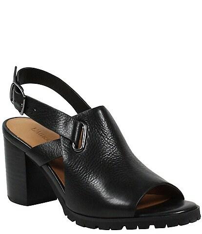 L'Amour Des Pieds Quenton Leather Slingback Sandals