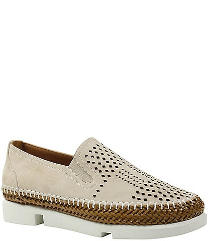 L'Amour Des Pieds Stazzema Laser Perforated Slip Ons