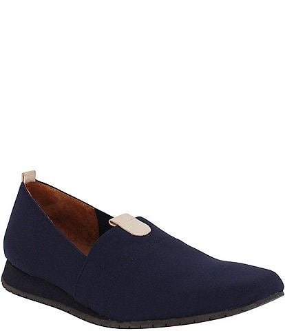 L'Amour Des Pieds Tumai Stretch Fabric Slip Ons