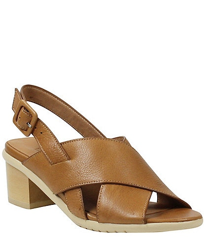 L'amour Des Pieds Wangala Leather Block Heel Sandals