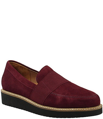 L'Amour Des Pieds Xanthus Suede Slip On Loafers