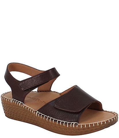 L'amour Des Pieds Yahya Leather Espadrille Sandals