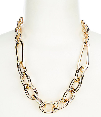Landry Chain Oval Link Collar Necklace