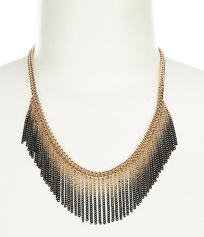 Landry Ombre Chain Collar Statement Necklace