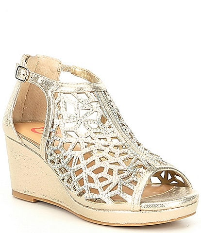 Lanie-Girl Rhinestone Detail Dress Wedge