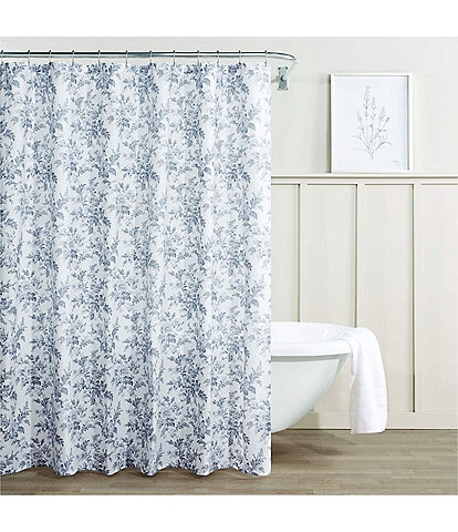 Laura Ashley Annalise Floral Shower Curtain