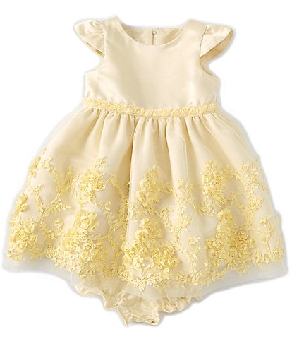 Laura Ashley Baby Girls 12-24 Months Mesh Soutache-Border Fit-And-Flare Dress