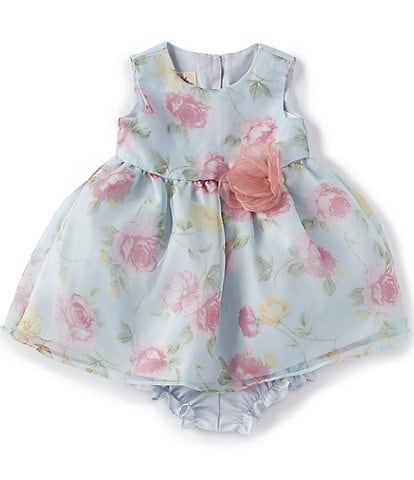 Laura Ashley Baby Girls Newborn-24 Months Floral Organza Fit-And-Flare Dress
