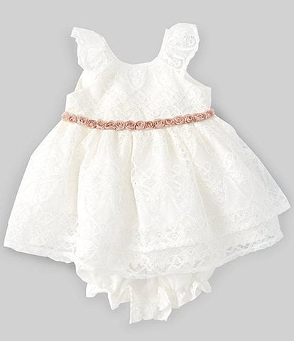 Laura Ashley Baby Girls Newborn-24 Months Patterned Lace Fit-And-Flare Dress