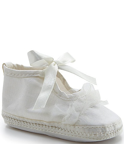 Laura Ashley Baby Girls Newborn-6 Months Christening Booties