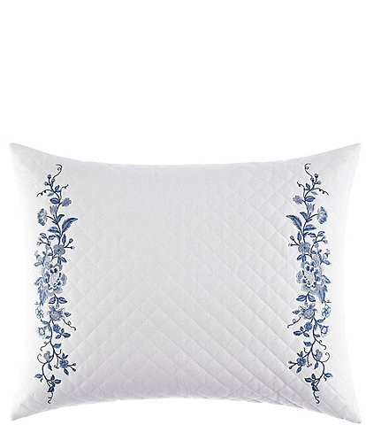 Laura Ashley Charlotte Embroidered Quilt Breakfast Throw Pillow